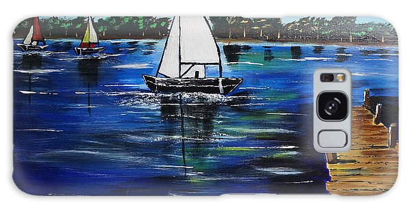 Sailboats And Pier Galaxy Case