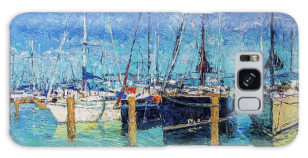 Sailboats At Balatonfured Galaxy Case