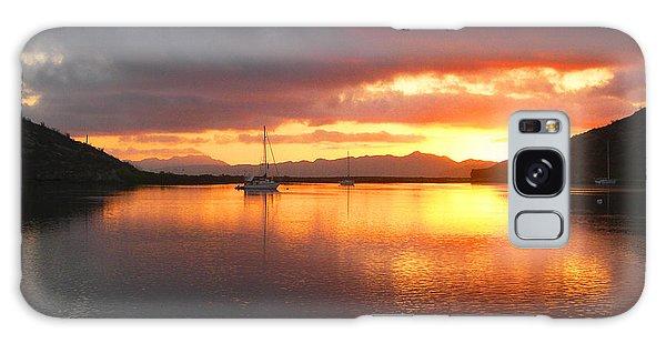 Sailboats At Sunrise In Puerto Escondido Galaxy Case