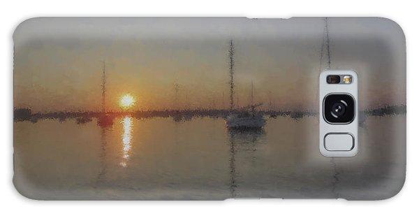 Sailboats At Sunset Galaxy Case