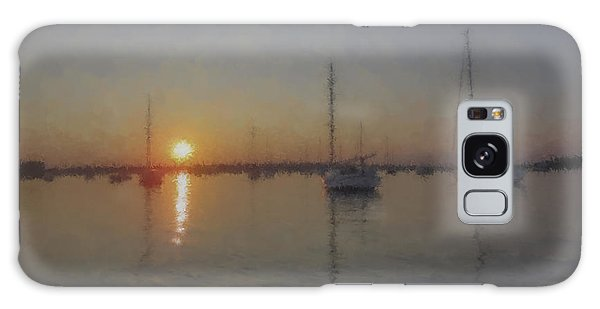 Sailboats At Sunset Galaxy Case