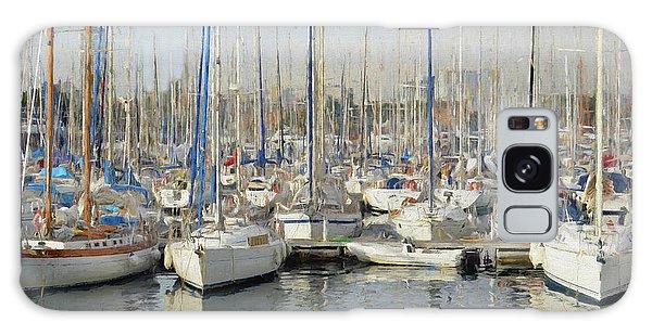 Sailboats At The Dock - Painting Galaxy Case