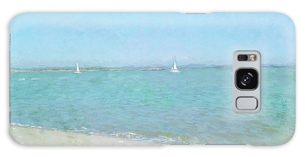 Sailboats At West Wittering Galaxy Case