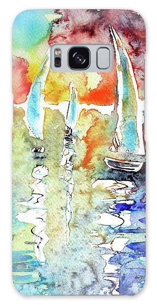 Sailboats In Light Galaxy Case by Kovacs Anna Brigitta