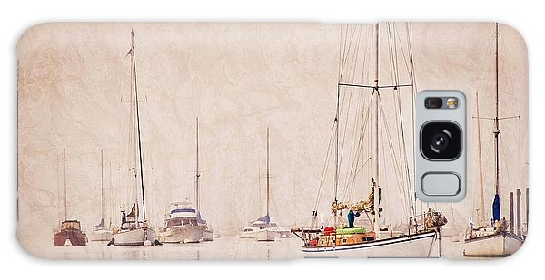 Sailboats In Morro Bay Fog Galaxy Case