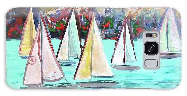 Sailboats In Spain I Galaxy Case