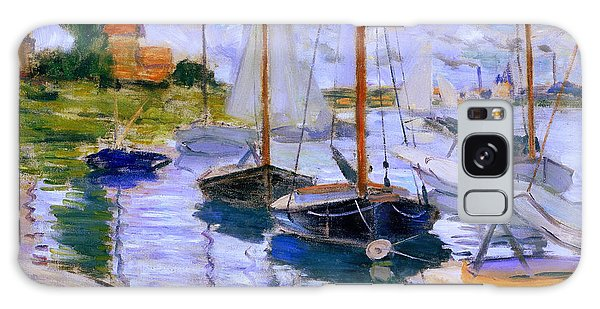Sailboats On The Seine At Petit Gennevilliers Claude Monet 1874 Galaxy Case