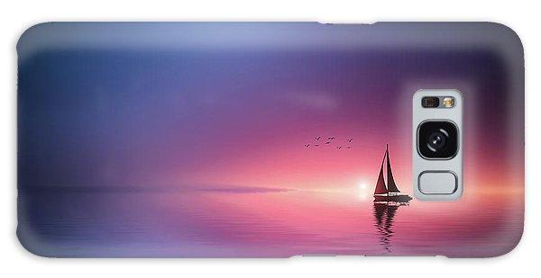 Sailing Across The Lake Toward The Sunset Galaxy Case
