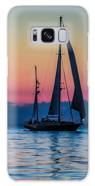 Sailing After Sunset Galaxy Case
