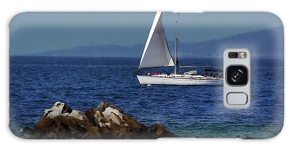 Sailing At Mykonos Galaxy Case