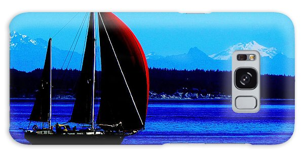 Sailing At Port Townsend Washington State Galaxy Case