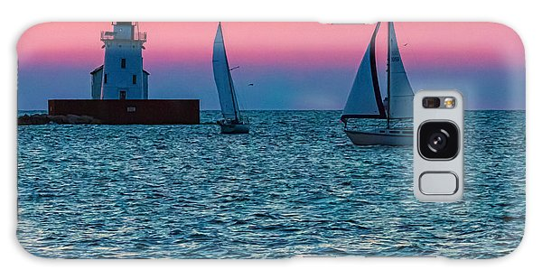 Sailing At The Cleveland Lighthouse  Galaxy Case