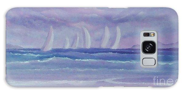 Sailing At Twilight Galaxy Case by Holly Martinson