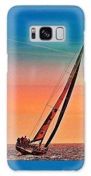 Sailing Boat Nautical 3 Galaxy Case