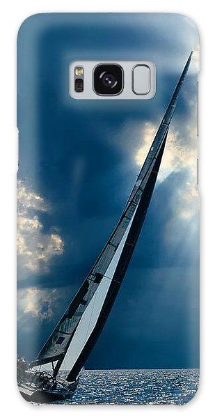 Sailing Boats At Sea , Photography , Galaxy Case
