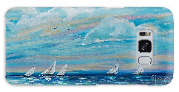 Sailing Close To The Shore Galaxy Case