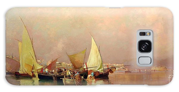 Sailing Fishermen Boats In Naples Galaxy Case