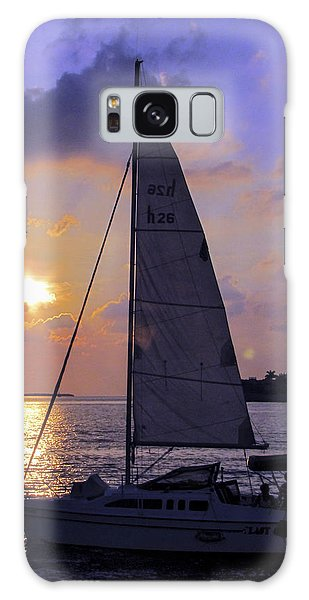 Sailing Home Sunset In Key West Galaxy Case