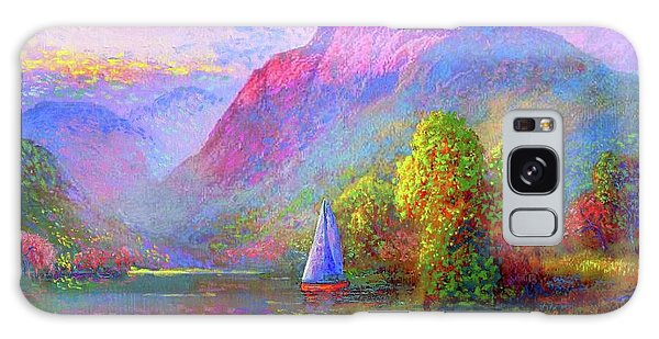 Blossoms Galaxy Case -  Sailing Into A Quiet Haven by Jane Small