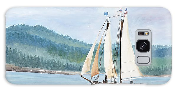 Sailing Into Castine Harbor Galaxy Case