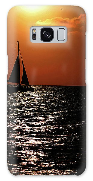 Sailing Into The Sunset Galaxy Case