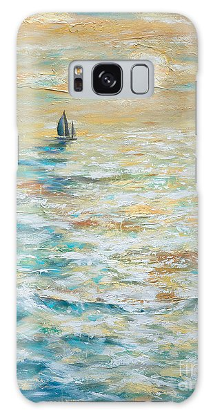 Sailing Into The Sunset Galaxy Case by Linda Olsen