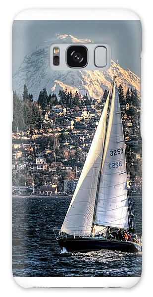Sailing On Elliot Bay, Seattle, Wa Galaxy Case by Greg Sigrist
