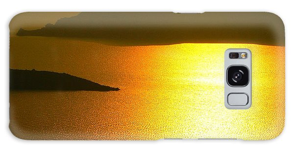 Sailing On Gold 1 Galaxy Case by Ana Maria Edulescu