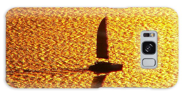 Sailing On Gold Galaxy Case by Ana Maria Edulescu
