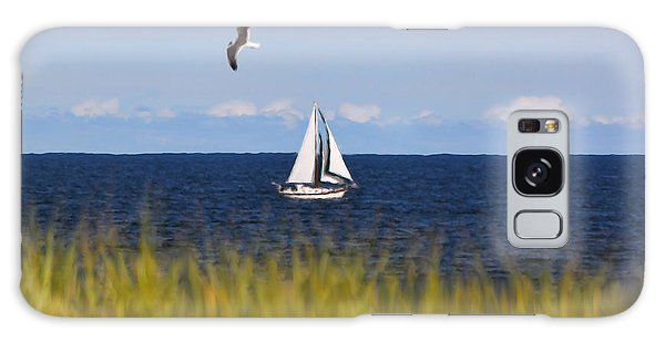 Sailing On Long Beach Island Galaxy Case