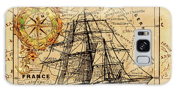 Sailing Ship Map Galaxy Case