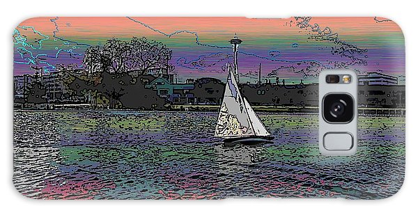 Sailing South Lake Union Galaxy Case