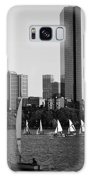 Sailing The Charles River Boston Ma Black And White Galaxy Case