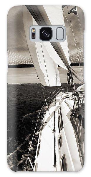 Sailing Under The Arthur Ravenel Jr. Bridge In Charleston Sc Galaxy Case