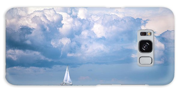 Galaxy Case featuring the photograph Sailing Under The Clouds by Onyonet  Photo Studios
