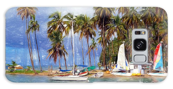 Sails And Palms Galaxy Case