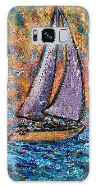 Galaxy Case featuring the painting Sails Up by Xueling Zou