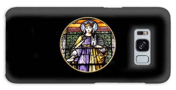 Galaxy Case featuring the photograph Saint Adelaide Stained Glass Window In The Round by Rose Santuci-Sofranko