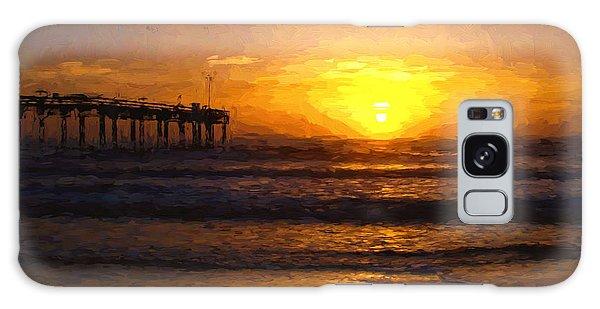 Saint Augustine Beach Sunrise Galaxy Case