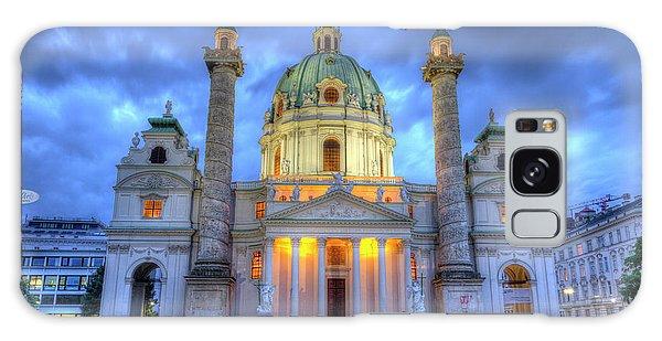 Saint Charles's Church At Karlsplatz In Vienna, Austria, Hdr Galaxy Case
