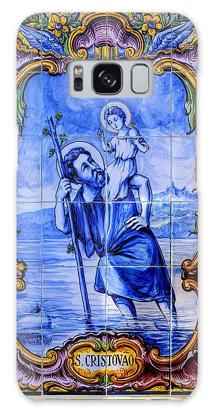 Saint Christopher Carrying The Christ Child Across The River - Near Entrance To The Carmel Mission Galaxy Case