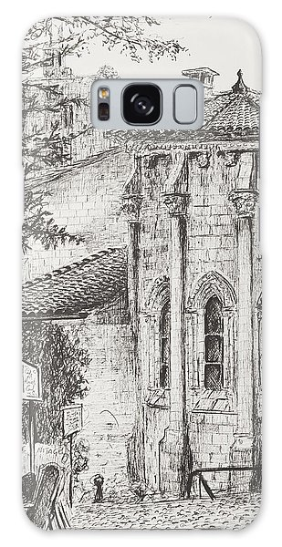 Pen And Ink Drawing Galaxy Case - Saint-emilion by Vincent Alexander Booth