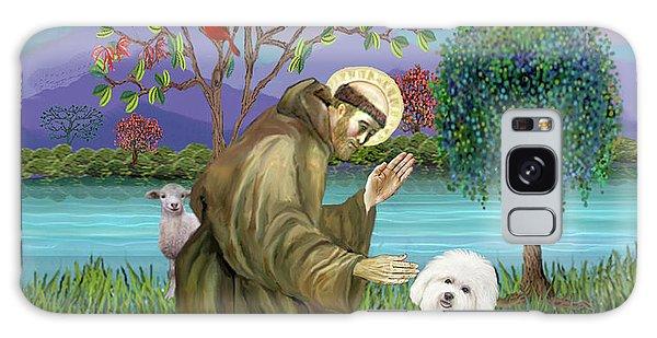 Saint Francis Blesses A Bichon Frise Galaxy Case