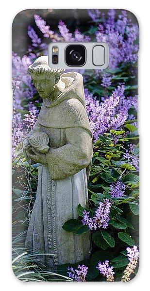 Saint Francis In Lavender Galaxy Case