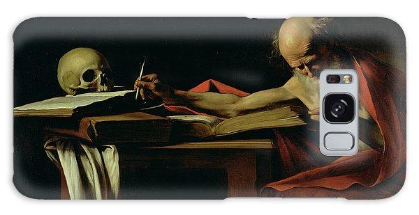 Skull Galaxy Case - Saint Jerome Writing by Caravaggio