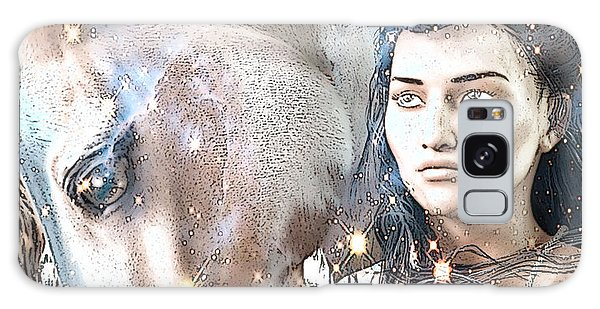 Saint Kateri Poster Galaxy Case by Suzanne Silvir