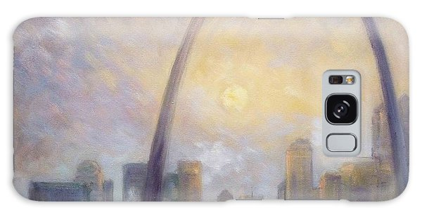Saint Louis Skyline - Frosty Day Galaxy Case by Irek Szelag
