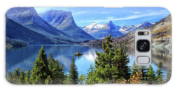 Saint Mary Lake In Glacier National Park Galaxy Case