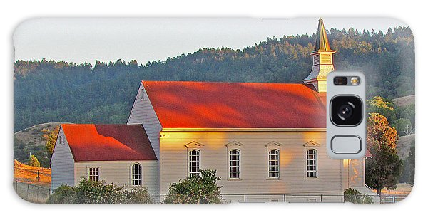 St. Mary's Church At Sunset Galaxy Case