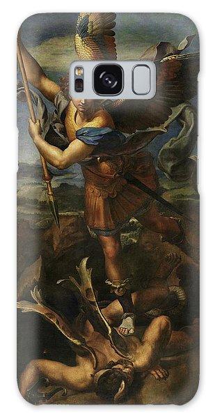 Saint Michael Defeats Satan Galaxy Case